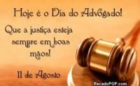 11 de Agosto Dia do Advogado.